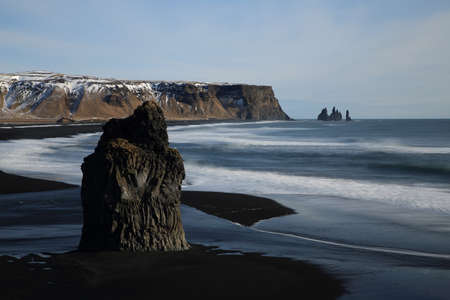 Reynisfjara beach in Area Iceland