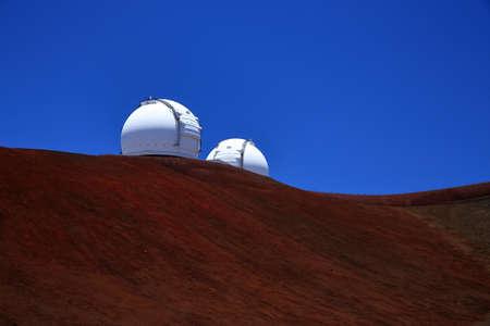 Telescopios de Mauna Kea, Big Island, Hawai Foto de archivo