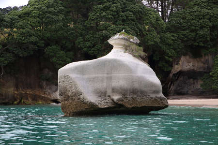 Famous Cathedral Cove area in Coromandel in New Zealand Reklamní fotografie