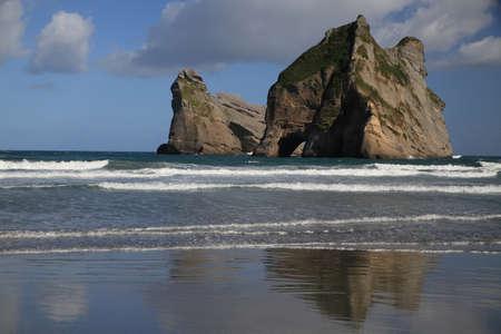 wharariki beach area , south new zealand