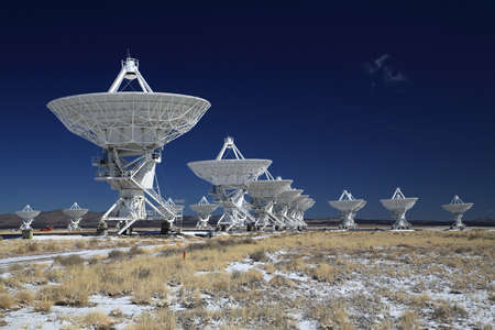 Very Large Array satellite dishes in New Mexico