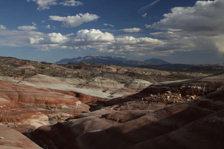 View of the red rock formations in Capitol Reef National Park