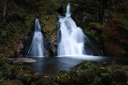 Black forest - Triberg waterfall Baden Wuerttemberg Stockfoto