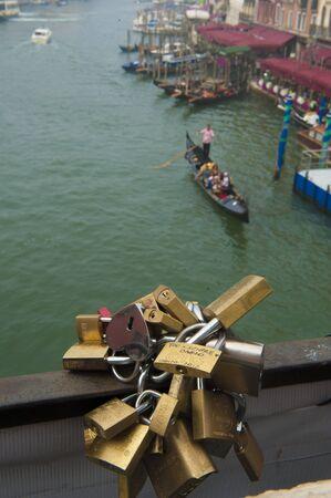 rialto: Love Locks On Rialto Bridge