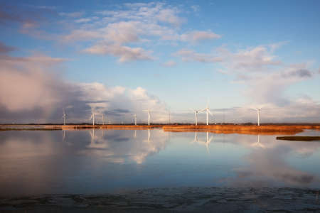 Windmills in the Danish Marsh photo