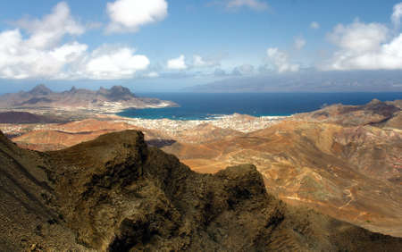 Monte Verde on Sao Vicente, Cape Verde islands Stock Photo