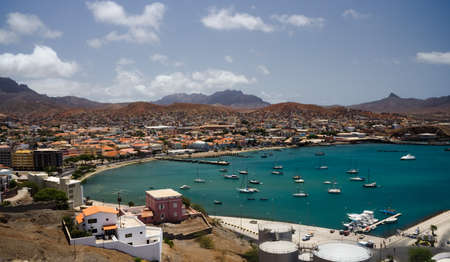 Mindelo, Cape Verde, cityscape Standard-Bild