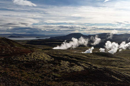 Geothermal hot spots, Iceland