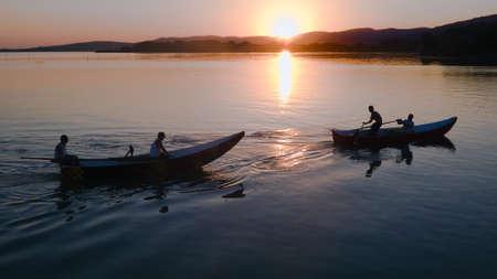 Fishermen at Lake Trasimeno