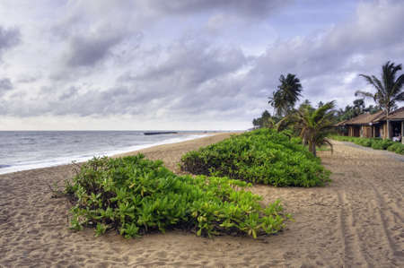 Coastline at the Indian Ocean, Sri Lanka photo