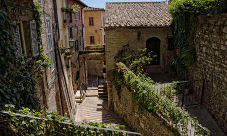 Perugia,narrow streets Stock Photo