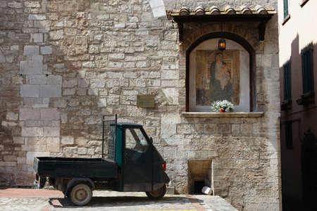 Street scene from Todi, Umbria, Italy