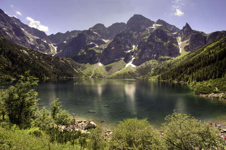 morskie: Morskie Oko lake in polish Tatra mountains