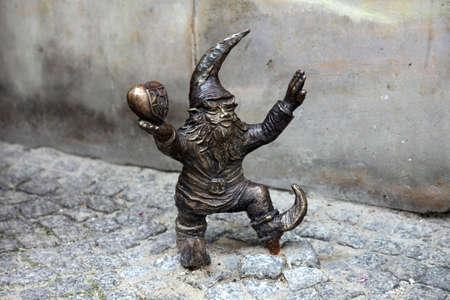 wroclaw: Dwarf statue, Wroclaw, Poland