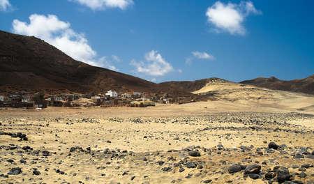 Deserted village in a desert on Cape Verde islands