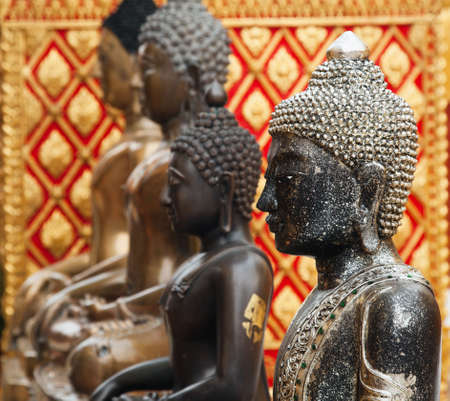 Buddha statues in Wat Phrathat Doi Suthep in Chiang Mai