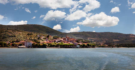 Panoramic view of Passignano at Lake Trasimeno, Umbria, Italy Stock Photo - 7585091