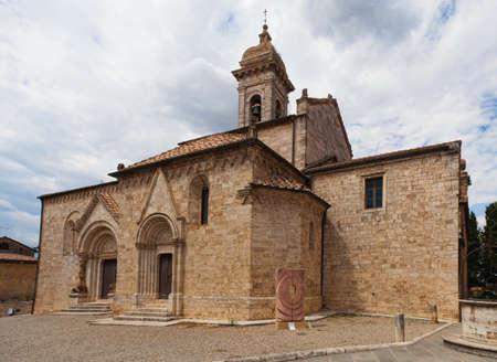 san quirico: Old church in San Quirico Tuscany, Italy
