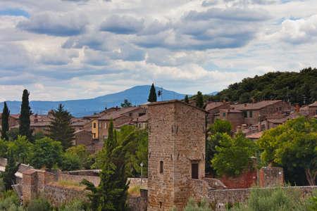 san quirico: Walls of San Quirico in Tuscany - Italy