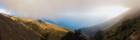 Pase de Llogara, Albania  Foto de archivo - 7985001