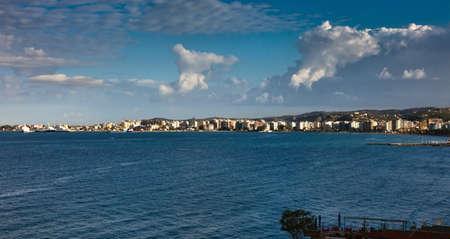 Panorama of Vlora, Albania Stock Photo