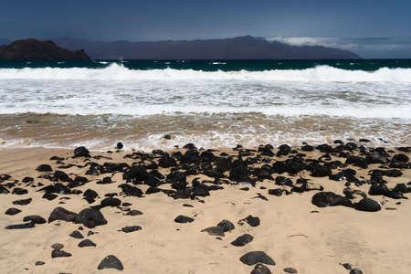 Beach near Mindelo, Cape Verde Islands Stock Photo