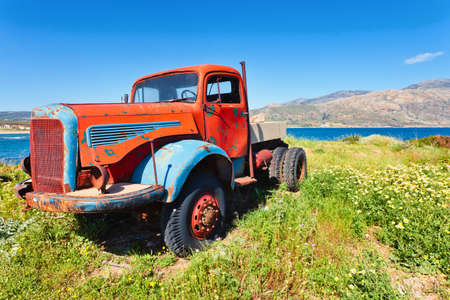 Old Truck, worn out and rusty photo