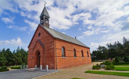 Minimalistic Danish church in Oksby, Blaavand
