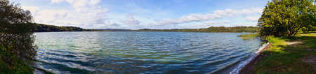 Panorama from the Danish Lake district, here at Knudsoe in Ry Stock Photo - 10725306