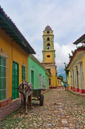 Trinidad, Cuba. View of Trinidad street.