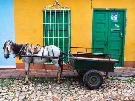 casa colonial: Trinidad, Cuba. Vista de la calle Trinidad