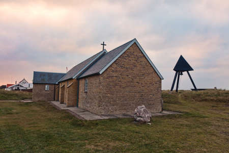 Minimalistic Danish church in Lild Beach, Denmark photo