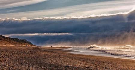 jutland: Emerging storm at Bovbjerg Beach, Denmark Stock Photo