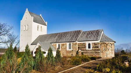 Medieval Danish church in Staby near Holstebro photo