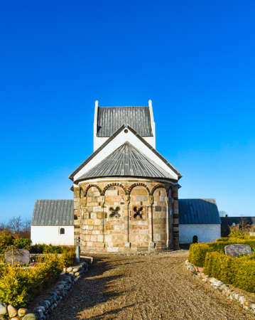 Medieval Danish church in Staby near Holstebro Stock Photo - 12773973