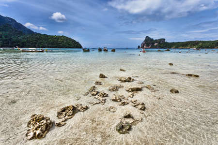 Longboats on Phi Phi Island  Thailand photo