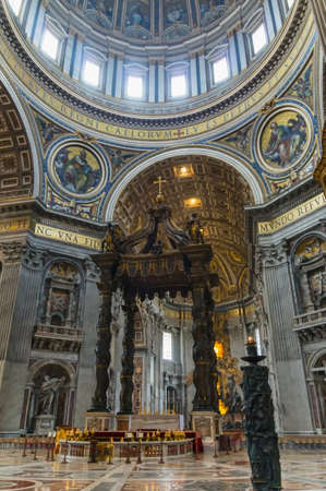 Interior of St Peters basilica, Rome