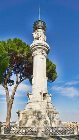 Manfredi Lighthouse in Rome, Italy  Built in 1911, it was a gift from Italian immigrants in Argentina to Rome  photo