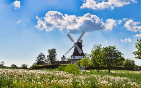 Wind mill in Egeskov, fyn, funen, Denmark Stock Photo - 13843941