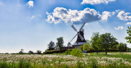 Wind mill in Egeskov, fyn, funen, Denmark Stock Photo - 13843939