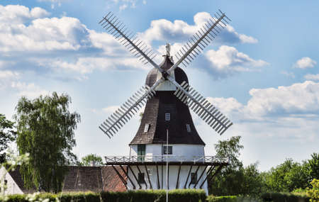 Wind mill in Egeskov, fyn, funen, Denmark photo