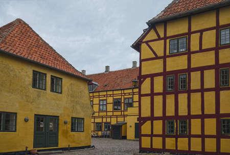 Half-timbered house in the village of Kerteminde, Denmark