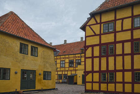 Half-timbered house in the village of Kerteminde, Denmark