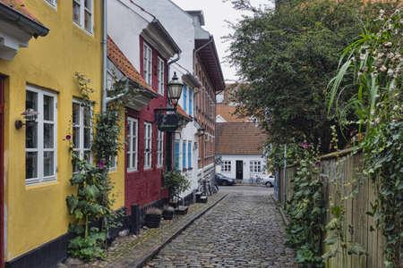 Aalborg old town, Denmark, narrow streets