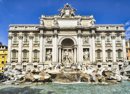 Fontana Trevi - the most famous in Rome Stock Photo