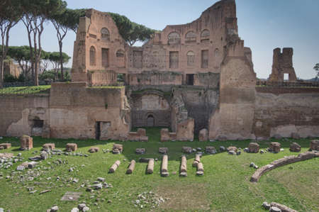Ruins of Stadium Domitanus at the Palatine Hill in Rome, Italy Stock Photo - 16947370