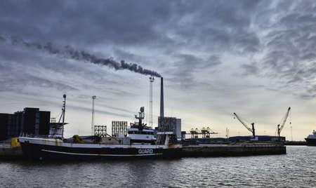 Offshore harbor in Esbjerg, Denmark photo