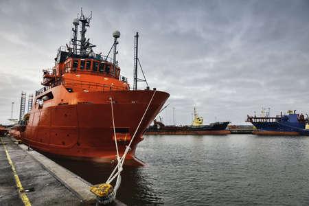 Offshore harbor in Esbjerg, Denmark