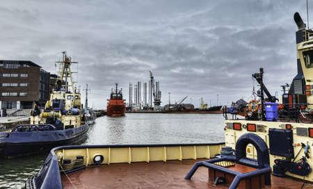 Offshore harbor in Esbjerg, Denmark Stock Photo - 17060674