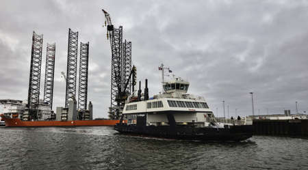 Ferry from Esbjerg to Fano in the Danish wadden sea Stock Photo - 17060672